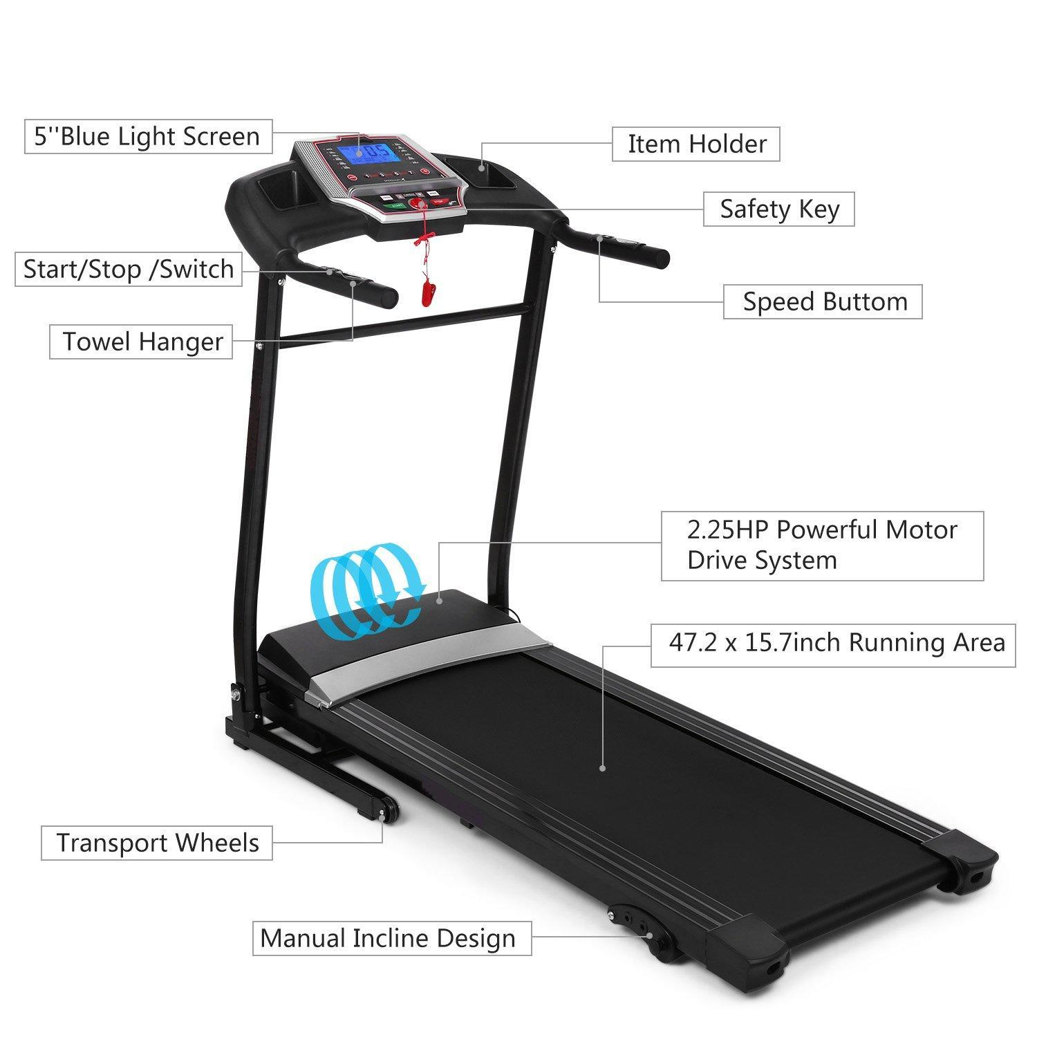 FirstClass ( Buy One Get Free GIFT) Professional Indoor Folding Electric Treadmill Exercise Equipment Walking Running Machine